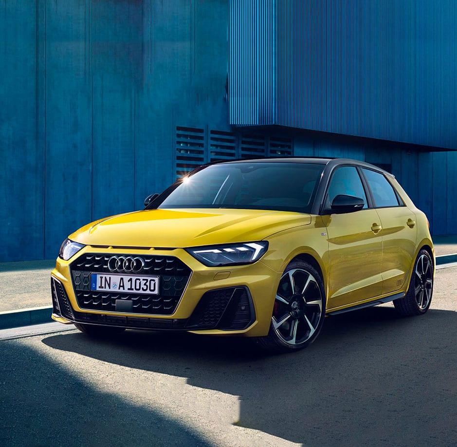 Audi A1 amarillo
